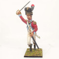 NAP035 4th Swiss Grenadier Officer Charging by Cold Steel Miniatures
