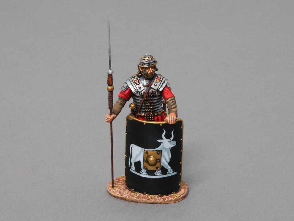 THOMAS GUNN ROMAN EMPIRE ROM017C 9TH LEGIONNAIRE CHARGING BLACK SHIELD MIB