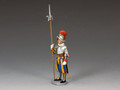 "CE018  ""Swiss Guardsman Standing-at-Ease"" by King and Country"