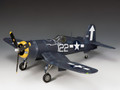 USN023  U.S. Navy F4U Corsair LE250 by King and Country