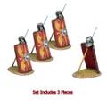 ROM170a Imperial Roman Shield with Pilum & Helmet - 3 Pieces - Legio I Minerva by First Legion (RETIRED)