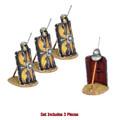 ROM170c Imperial Roman Shield with Pilum & Helmet - 3 Pieces - Legio I Augusta by First Legion