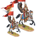 TYW005a  Polish Winged Hussar with Grand Standard of Sigismund III by First Legion (RETIRED)