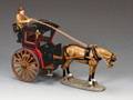WoD058-2   Hansom Cab (Red) by King and Country