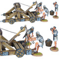 ROM181 Roman Onager with 3 Crew -  White Tunics  by First Legion (RETIRED)