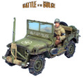 BB004 US Military Police Willys Jeep with Wire Cutter and Driver by First Legion