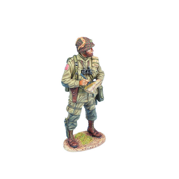 NOR066 US 101st Airborne Lieutenant Making Notes on Map by First Legion