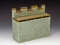 RF003(G) Roman Fort Straight Wall Section (Graystone) by King and Country