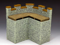 RF004(G) Roman Fort Corner Wall Section (Graystone) by King and Country