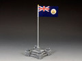 CHK010 Ceremonial Flag Base & British Crown Colony of Hong Kong Flag by King and Country