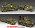 DD318-S03 The Diamond T Tank Transporter Set and KnC01 The Normandy Sherman by King and Country