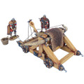 ROM235 Winter Roman Onager with 2 Crew Figures, Basket, and 2 Stones by First Legion