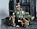AN016  Daimler Armoured Car incl 3 figures by King & Country (Retired)