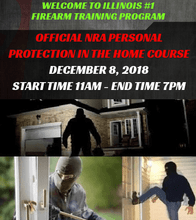 NRA PERSONAL PROTECTION IN THE HOME SATURDAY DECEMBER 8TH 2018