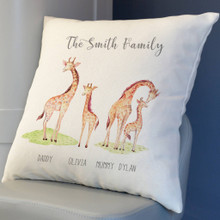 Giraffe Family Cushion Cover