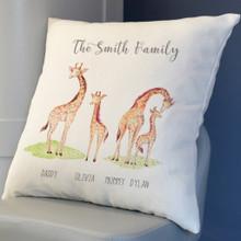 Giraffe Family Cushion Cover