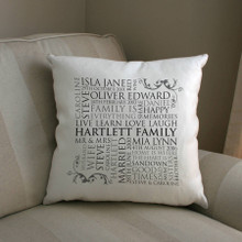 Family Word Art Cushion Cover