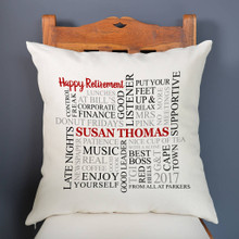 Occasion Word Art Cushion Cover