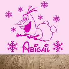 Olaf  Name and Snowflakes