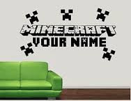 Minecraft Logo and Name Decal