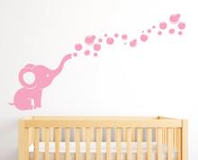 Elephant Bubbles Nursery Wall Decal Baby Room Decor