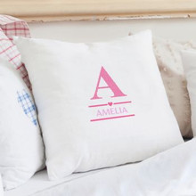 Girls Initial Cushion Cover