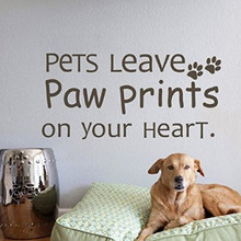 Pets Leave Paw Prints Decal