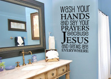 Wash Your Hands Because... Wall Sticker