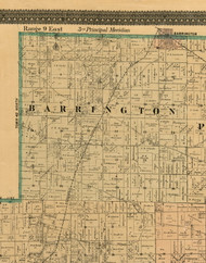 Barrington, Illinois 1898 Old Town Map Custom Print - Cook Dupage Will Cos.