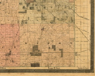 Bloom, Illinois 1898 Old Town Map Custom Print - Cook Dupage Will Cos.