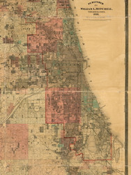 Chicago, Illinois 1898 Old Town Map Custom Print - Cook Dupage Will Cos.