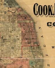 Evanston, Illinois 1898 Old Town Map Custom Print - Cook Dupage Will Cos.