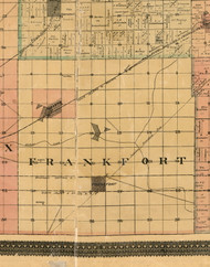 Frankfort, Illinois 1898 Old Town Map Custom Print - Cook Dupage Will Cos.