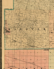 Hanover, Illinois 1898 Old Town Map Custom Print - Cook Dupage Will Cos.
