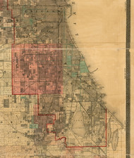 Hyde Park, Illinois 1898 Old Town Map Custom Print - Cook Dupage Will Cos.