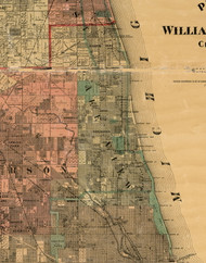 Lakeview, Illinois 1898 Old Town Map Custom Print - Cook Dupage Will Cos.
