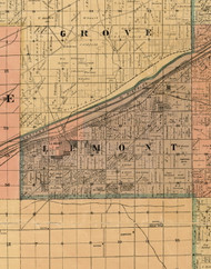 Lemont, Illinois 1898 Old Town Map Custom Print - Cook Dupage Will Cos.