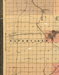 Naperville, Illinois 1898 Old Town Map Custom Print - Cook Dupage Will Cos.