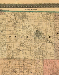Palatine, Illinois 1898 Old Town Map Custom Print - Cook Dupage Will Cos.