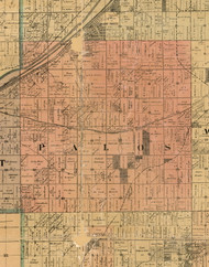 Palos, Illinois 1898 Old Town Map Custom Print - Cook Dupage Will Cos.