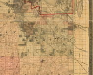Thornton, Illinois 1898 Old Town Map Custom Print - Cook Dupage Will Cos.