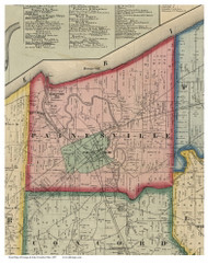 Painesville, Ohio 1857 Old Town Map Custom Print - Lake Co.