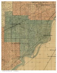 Waterville, Ohio 1888 Old Town Map Custom Print - Lucas Co.