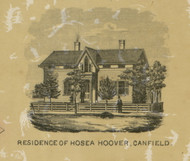 Residence of Hosea Hoover - Canfield, Ohio 1860 Old Town Map Custom Print - Mahoning Co.