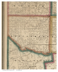 Montgomery, Ohio 1852 Old Town Map Custom Print - Marion Co.