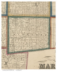 Richland, Ohio 1852 Old Town Map Custom Print - Marion Co.
