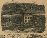 Massillon Kent Jarvis Residence - Perry, Ohio 1850 Old Town Map Custom Print - Stark Co.