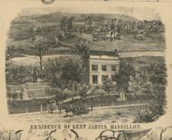 Massillon Kent Jarvis Residence - Perry, Ohio 1855 Old Town Map Custom Print - Stark Co.