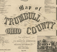 Title of Source Map - Trumbull Co., Ohio 1856 - NOT FOR SALE - Trumbull Co.