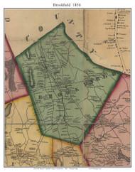Brookfield, Connecticut 1856 Fairfield Co. - Old Map Custom Print